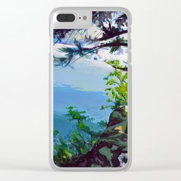A View From a Cliff Clear iPhone Case