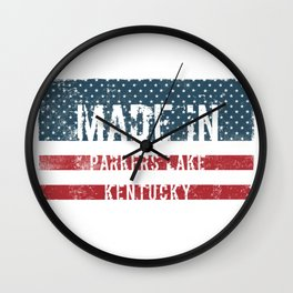 Made in Parkers Lake, Kentucky Wall Clock