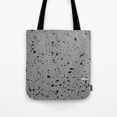 Retro Speckle Print - Grey Tote Bag