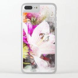 Pretty Watercolour Floral Bouquet Clear iPhone Case