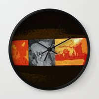 simba Wall Clocks featuring SIMBA by David Hinnebusch