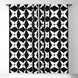 Geometric Pattern 247 (white crosses) Blackout Curtain