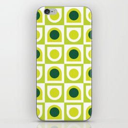 Geometric Pattern #210 (lime green) iPhone Skin