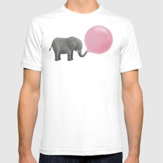 Jumbo Bubble Gum  White LARGE Mens Fitted Tee