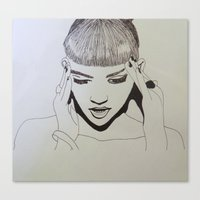grimes Canvas Prints featuring Grimes by NikkiMaths