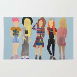 Female Witches 90s Fashion Rug