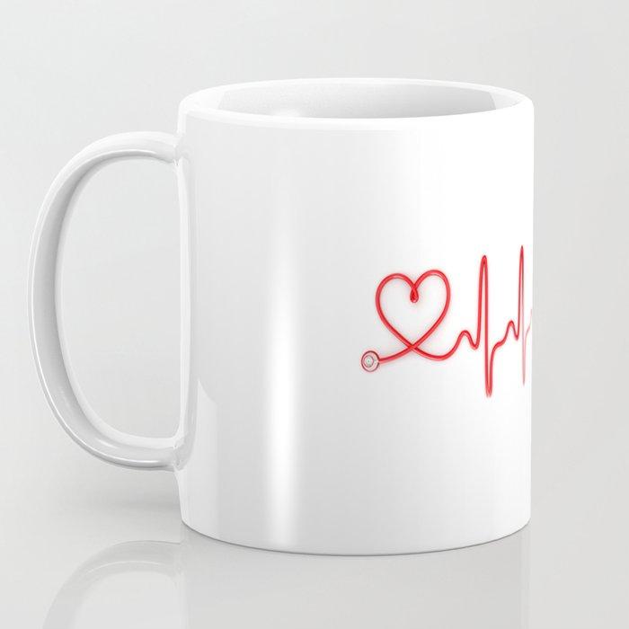 Ekg Heart Stethoscope Coffee Mug