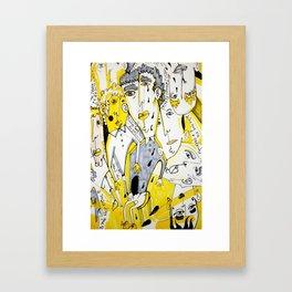 yellow people Framed Art Print