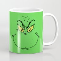 dr seuss Mugs featuring How The Grinch Stole Christmas (Dr. Seuss) by TOM / TOM