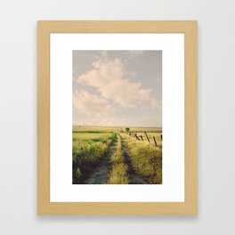 Days may be cloudy or sunny  Framed Art Print