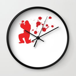 Eat My Color Balls Paintball Player Paintball Marker Gift Wall Clock