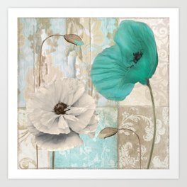 Beach Poppies III Art Print