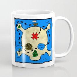 Skull Treasure Map Coffee Mug