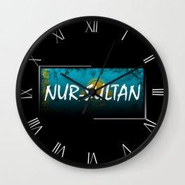Nur-Sultan Wall Clock