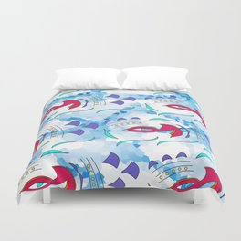 Fish Bird Duvet Cover