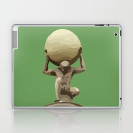 Man with Big Ball Illustration green Laptop & iPad Skin