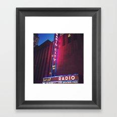 Radio City, New York Framed Art Print