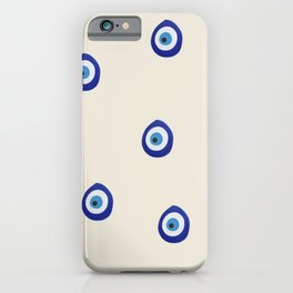 Eye'm Watching You- Blue Evil Eyes iPhone Case