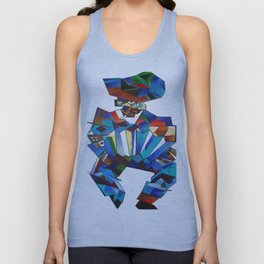 Accordion Player In Cubist Style Unisex Tank Top