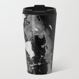 Lost In The Mystery - Abstract, black and white painting Travel Mug