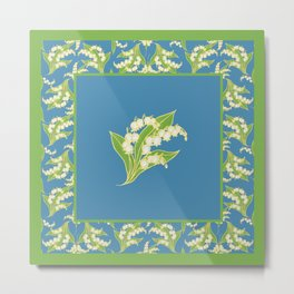 Vintage Lily-of-the-Valley Metal Print