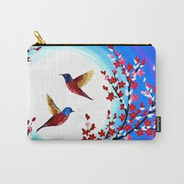 Red Cherry Blossom Carry-All Pouch