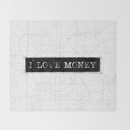 I love money Word art Throw Blanket