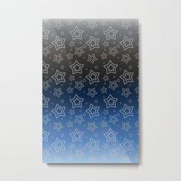 Ornated Silver Stars Metal Print