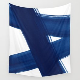 Indigo Abstract Brush Strokes | No. 4 Wall Tapestry