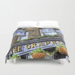 The Grapes Pub London Duvet Cover