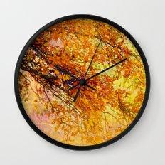 Autumn in paradise Wall Clock