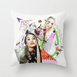 City of Sogni D'oro Collage, Part 2 Throw Pillow