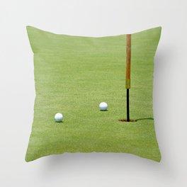 Golf Pin Throw Pillow