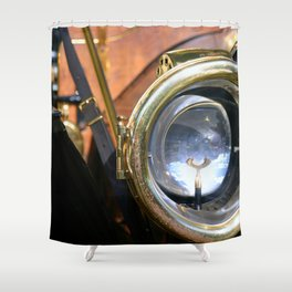 Old Headlights Shower Curtain