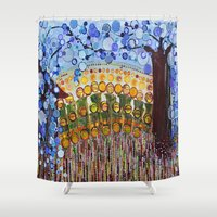indiana Shower Curtains featuring :: Indiana Blue Willow :: by :: GaleStorm Artworks ::
