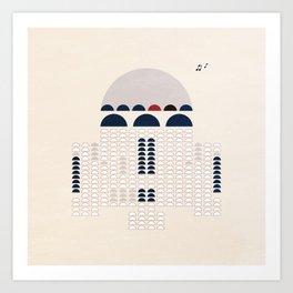 Retro R2 Art Print