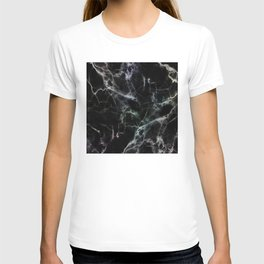 Luxurious Black Marble With Smoky Veins T-shirt