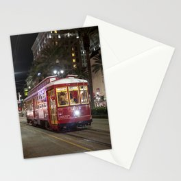 New Orleans Canal Street Car at Night Stationery Cards