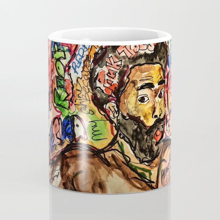 childish, this is america,colourful,colorful,poster,wall art,fan art,music,hiphop,rap,legend,shirt,p Coffee Mug