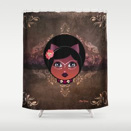 Voodoo Cat  Shower Curtain