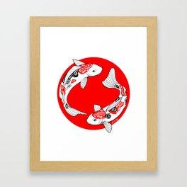 Japanese Kois Framed Art Print