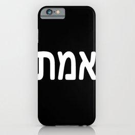 Emet אמת truth iPhone Case