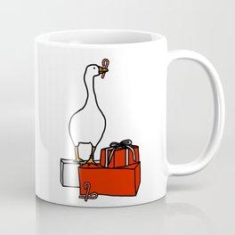 White Goose Steals Christmas Coffee Mug