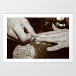 Nails Art Print