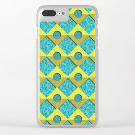 Textured geometric pattern Clear iPhone Case