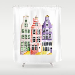 Amsterdam houses Shower Curtain