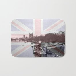 London Skyline and Union Jack Flag  Bath Mat