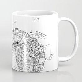Rio De Janeiro White Map Coffee Mug