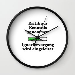 Criticism Noted Wall Clock
