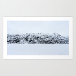 Blinded by the Norwegian snow Art Print